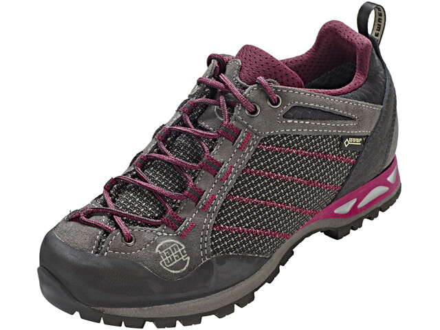 Hanwag Makra Low GTX Shoes Women asphalt/dark garnet